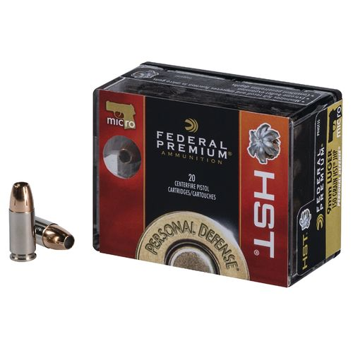 Display product reviews for Federal Premium HST 9mm Luger Micro 150-Grain Pistol Ammunition