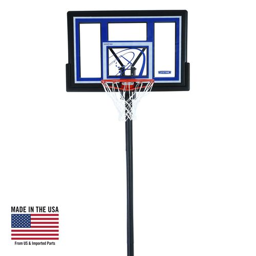 Lifetime Courtside 48 in Portable Polycarbonate Basketball Hoop