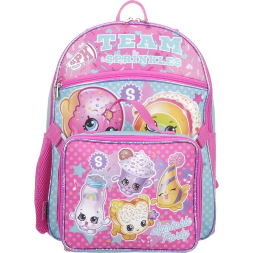 Shopkins Girls' Backpack with Lunch Kit