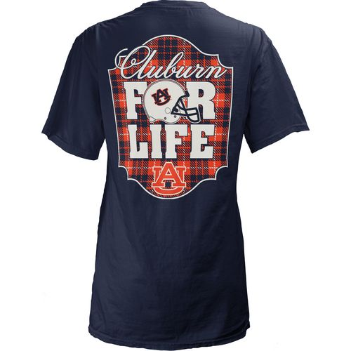 Three Squared Juniors' Auburn University Team For Life Short Sleeve V-neck T-shirt