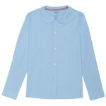 French Toast Girls' Plus Size Modern Peter Pan Long Sleeve Uniform Blouse - view number 1