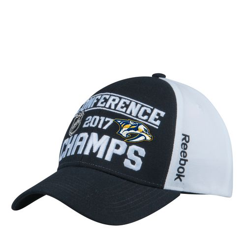 Reebok Men's Nashville Predators 2017 NHL Western Conference Champs Locker Room Cap
