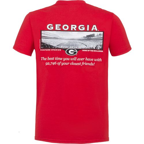 New World Graphics Men's University of Georgia Friends Stadium T-shirt