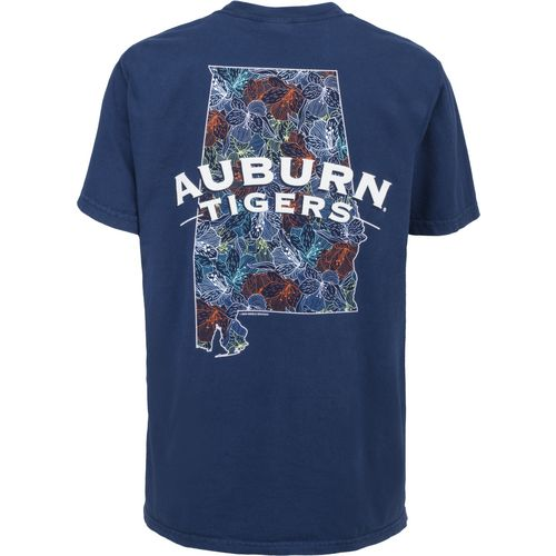 New World Graphics Women's Auburn University Comfort Color Puff Arch T-shirt
