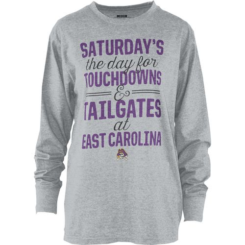 Three Squared Juniors' East Carolina University Touchdowns and Tailgates T-shirt