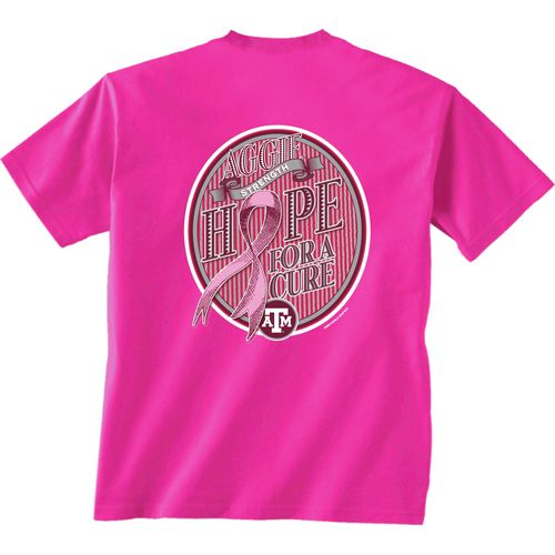 New World Graphics Women's Texas A&M University Breast Cancer Hope T-shirt