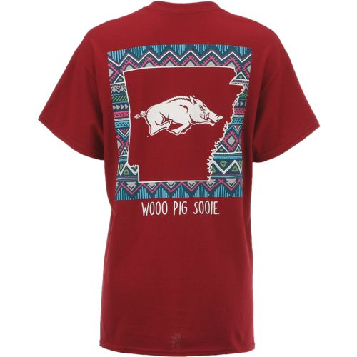New World Graphics Women's University of Arkansas Terrain State T-shirt