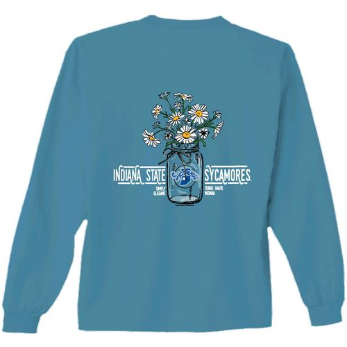 New World Graphics Women's Indiana State University Bouquet Long Sleeve T-shirt
