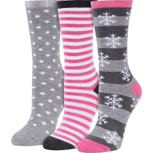 BCG Women's Winter-Themed Crew Socks 3 Pack