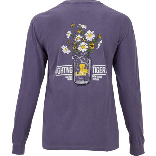 New World Graphics Women's Louisiana State University Bouquet Long Sleeve T-shirt
