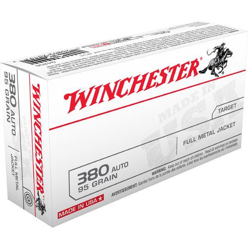 Winchester USA Full Metal Jacket .380 Automatic 95-Grain Handgun Ammunition