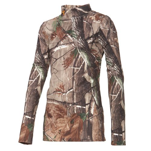 Under Armour® Boys' Camo Evo ColdGear® Mock Turtleneck