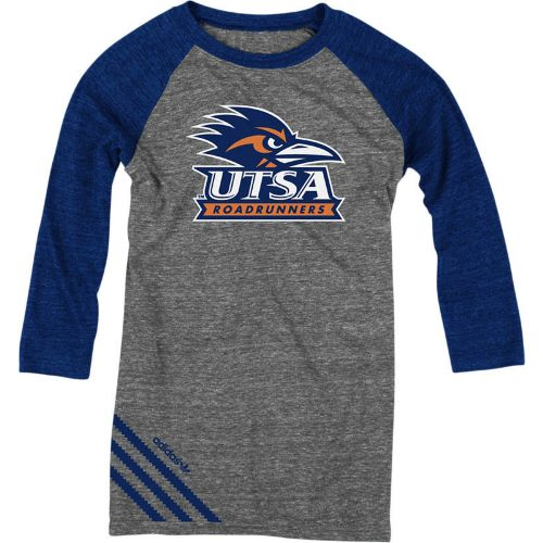 adidas Women's University of Texas at San Antonio Big Stripes 3/4 Raglan T-shirt