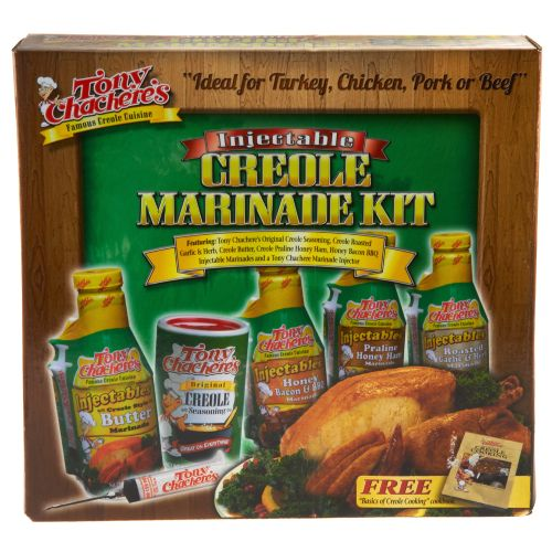 Display product reviews for Tony Chachere's Injectable Creole Marinade Kit
