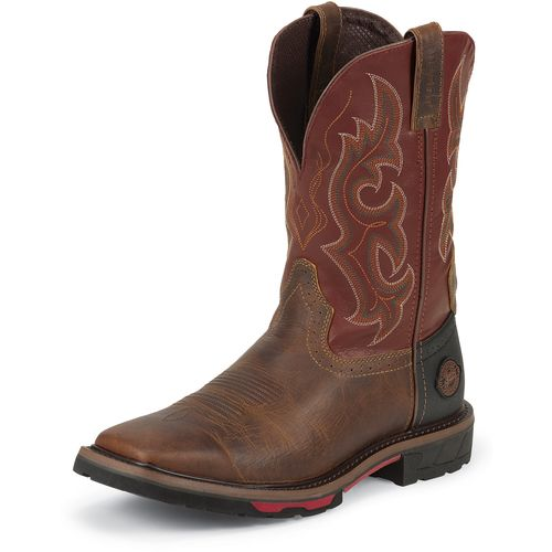 Justin Men's Rugged Western Work Boots