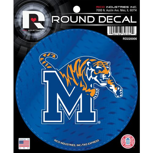 Tag Express University of Memphis Round Decal