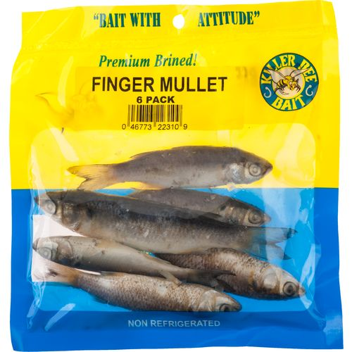 KILLER BEE BAIT Brined Finger Mullets 6-Pack