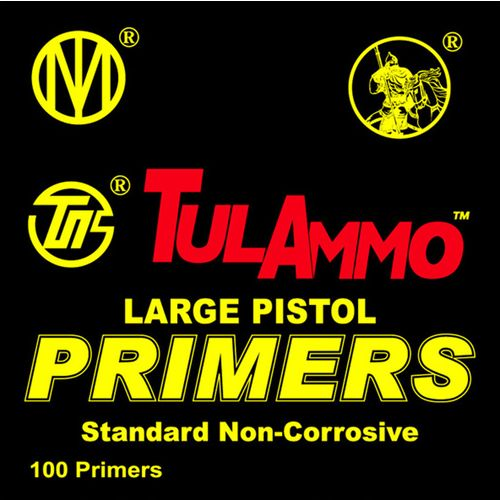 TulAmmo Large Pistol Primers 100-Pack