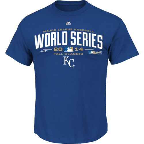 Display product reviews for Majestic Men's Kansas City Royals Locker Room World Series Participant T-shirt