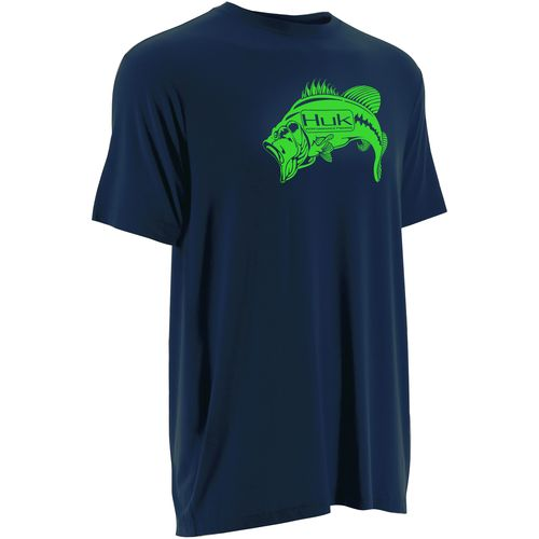 Huk Men's Pima Modal Series Bass KO T-shirt
