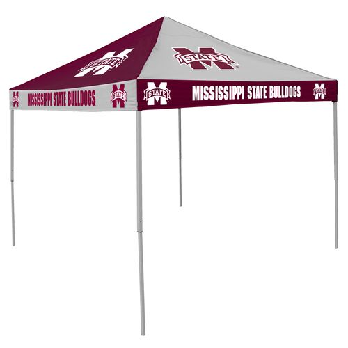 Logo Mississippi State University Straight-Leg 9 ft x 9 ft Checkerboard Tent