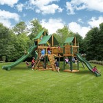 Gorilla Playsets™ Treasure Trove II Swing Set with Timber Shield™ and Deluxe Vinyl Canopy - view number 2