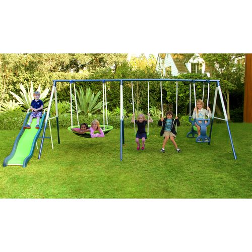 Display product reviews for Sportspower Rosemead Metal Swing and Slide Set