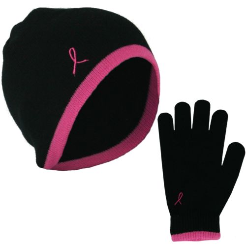 Pro Cure Women's Beanie and Stretch Gloves Set