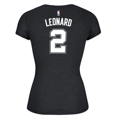 adidas™ Women's San Antonio Spurs Kawhi Leonard #2 Game Time T-shirt
