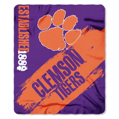 The Northwest Company Clemson University Painted Fleece Throw