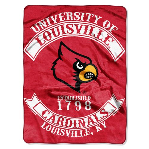 The Northwest Company University of Louisville Rebel Raschel Throw