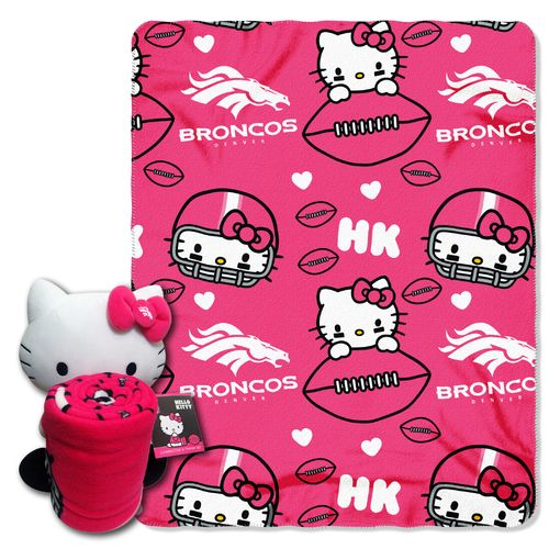 The Northwest Company Denver Broncos Hello Kitty Hugger and Fleece Throw Set