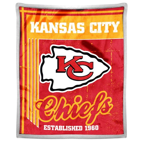 The Northwest Company Kansas City Chiefs Old School Mink with Sherpa Throw