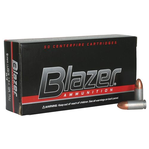 CCI Blazer 9mm 124-Grain Full Metal Jacket Centerfire Handgun Ammunition