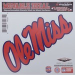 "Stockdale University of Mississippi 6"" x 6"" Decal"