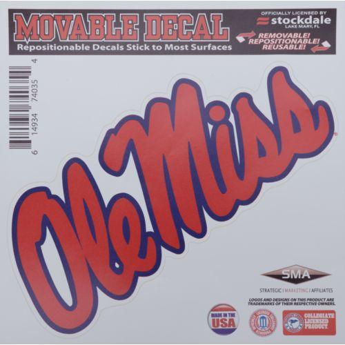 Stockdale University of Mississippi 6' x 6' Decal