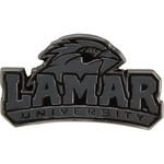Stockdale Lamar University Chrome Freeform Auto Emblem - view number 1