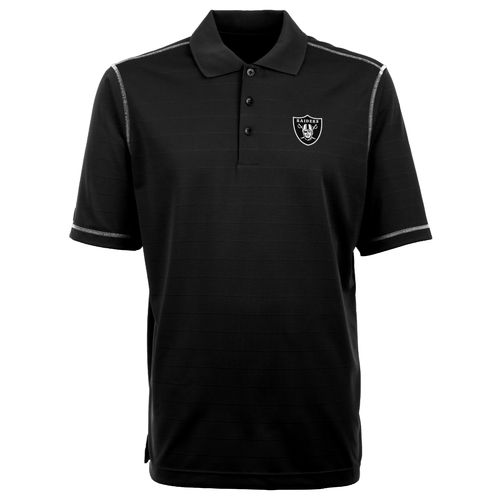 Antigua Men's Oakland Raiders Icon Short Sleeve Polo Shirt