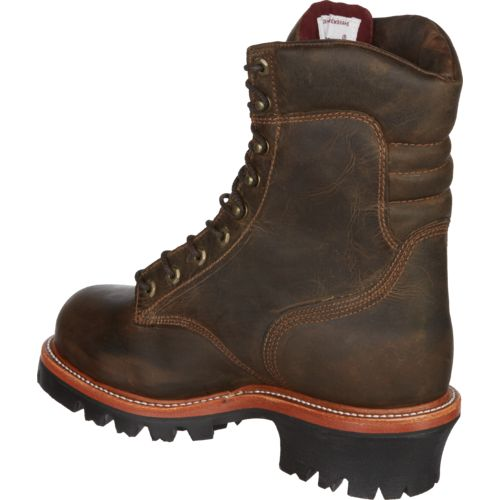 Chippewa Boots Men's Bay Apache Logger Steel Toe Rugged Outdoor Boots - view number 3