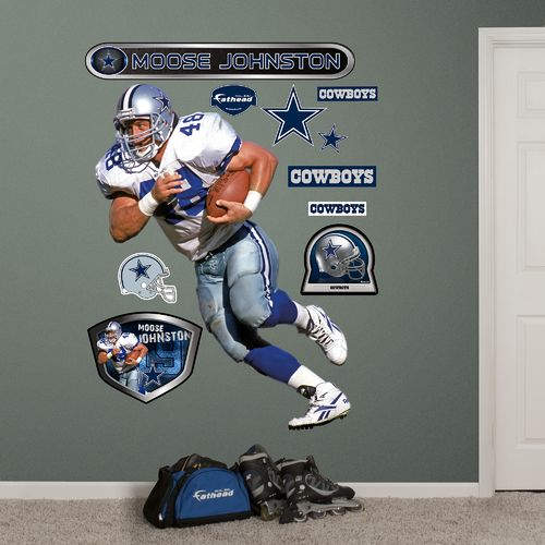 Fathead Dallas Cowboys Daryl 'Moose' Johnston Real Big Wall Decal