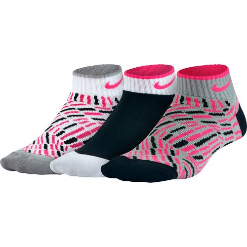 Nike Girls' Graphic Low-Cut Socks 3-Pair