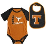 Colosseum Athletics Infants' University of Texas Rookie Onesie and Bib Set
