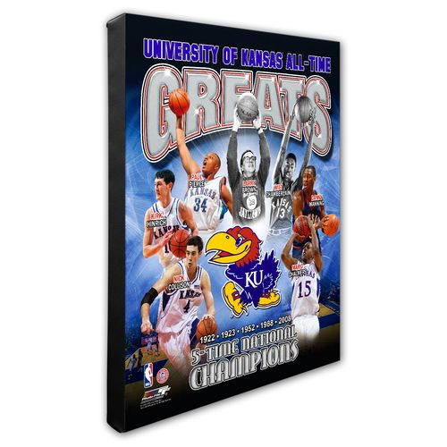 Photo File University of Kansas All-Time Greats Stretched Canvas Photo