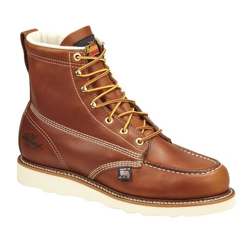 "Display product reviews for Thorogood Shoes Men's American Heritage 6"" Moc Toe Wedge Work Boots"