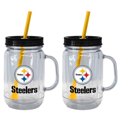 Boelter Brands Pittsburgh Steelers 20 oz. Handled Straw Tumblers 2-Pack