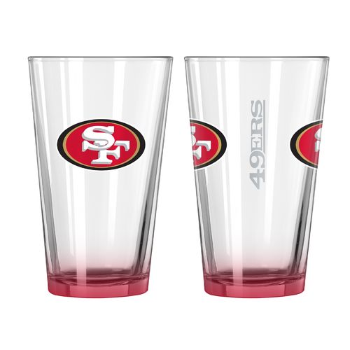 Boelter Brands San Francisco 49ers Elite 16 oz. Pint Glasses 2-Pack