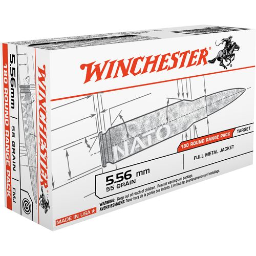 Winchester 5.56mm 55-Grain FMJ Ammunition