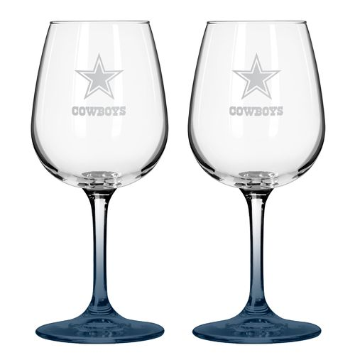 Hot Boelter Brands Dallas Cowboys 12 oz. Wine Glasses 2-Pack hot sale