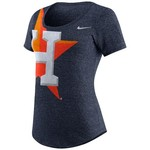 Nike Women's Houston Astros Marled Scoop Neck T-shirt