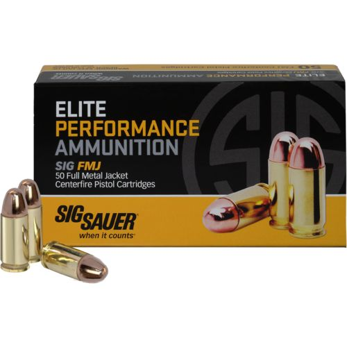 SIG SAUER Elite Ball 9mm 115-Grain Centerfire Pistol Ammunition